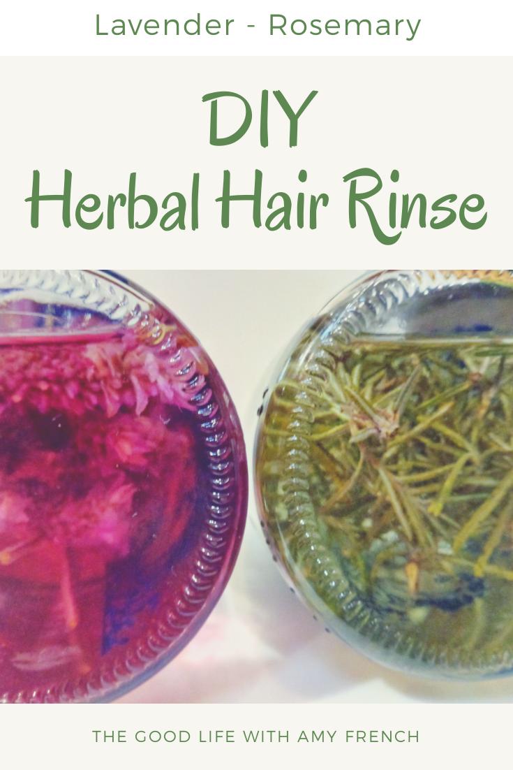 DIY Herbal Hair Rinse Recipe