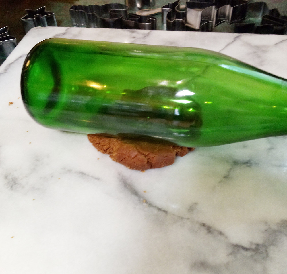 using a bottle instead of a rolling pin
