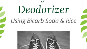 Shoe Deodoriser: Bi-Carb Soda and Old Rice