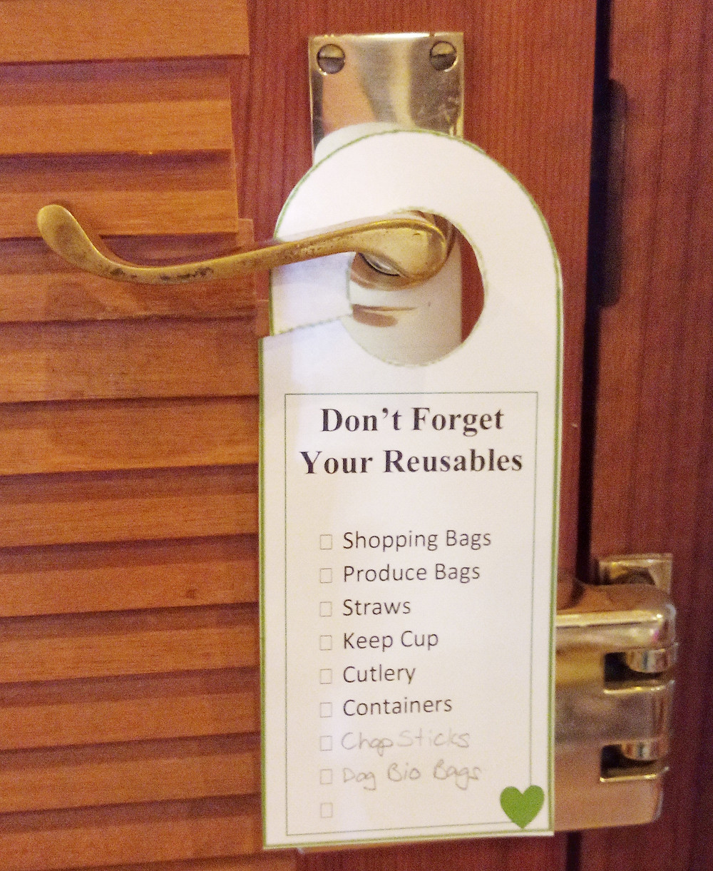 Don't Forget your reusables