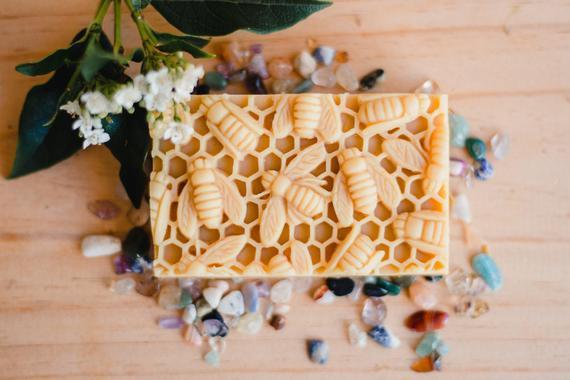 Honey, beeswax natural gift soap