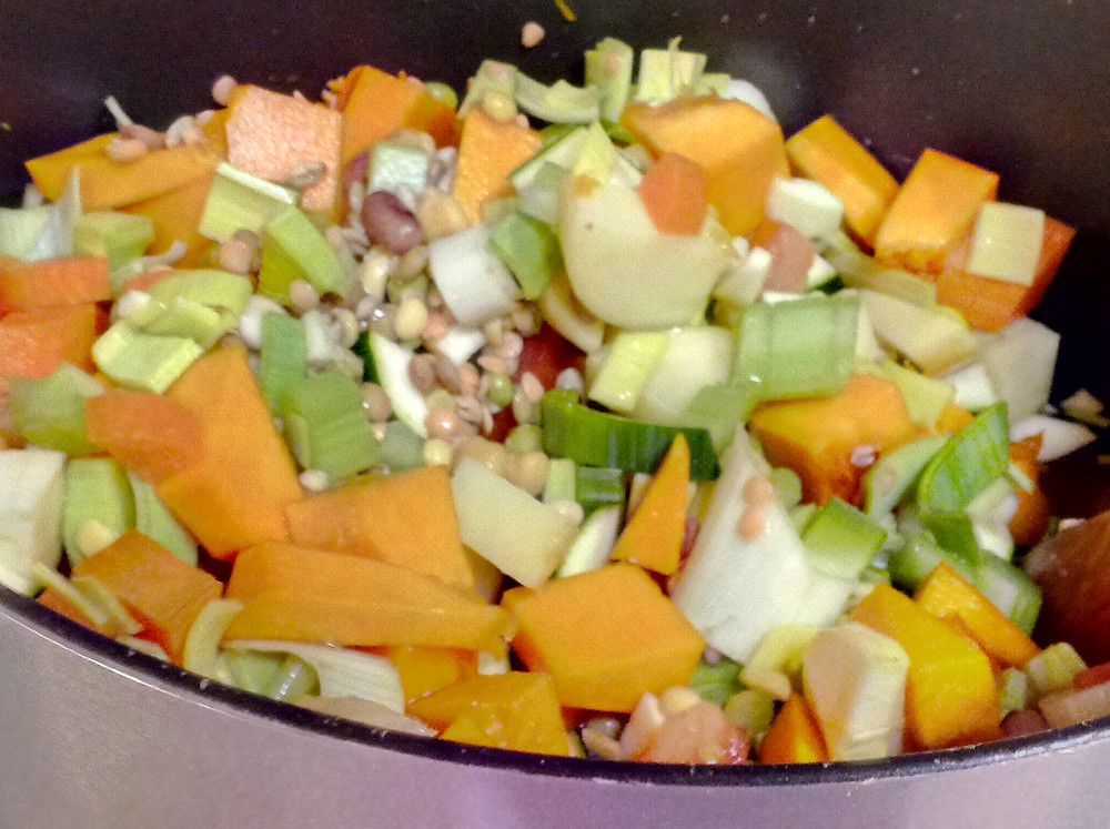 make soup from scraps