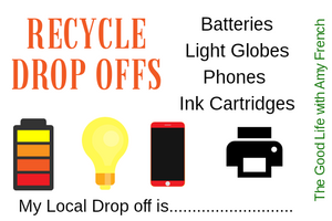 Recylce Drop Offs: Batteries, Light Globes, Mobile Phones and Ink Cartridges