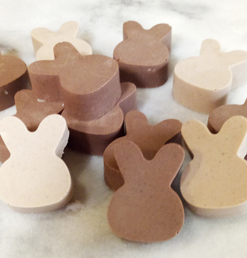Homemade Chocolate soap for easter gifts