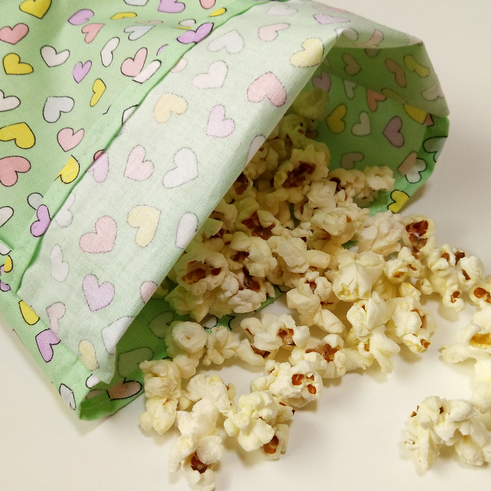 plastic free fabric reusable snack pouch
