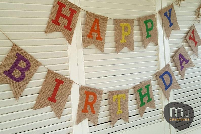 Burlap Birthday Banners