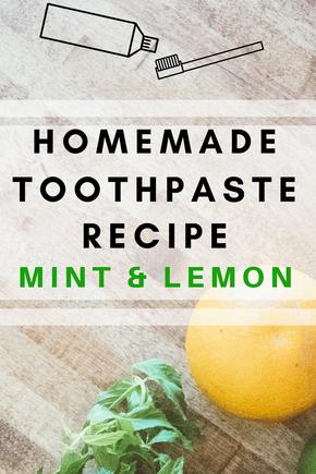 Homemade Minty Lemon Toothpaste Recipe