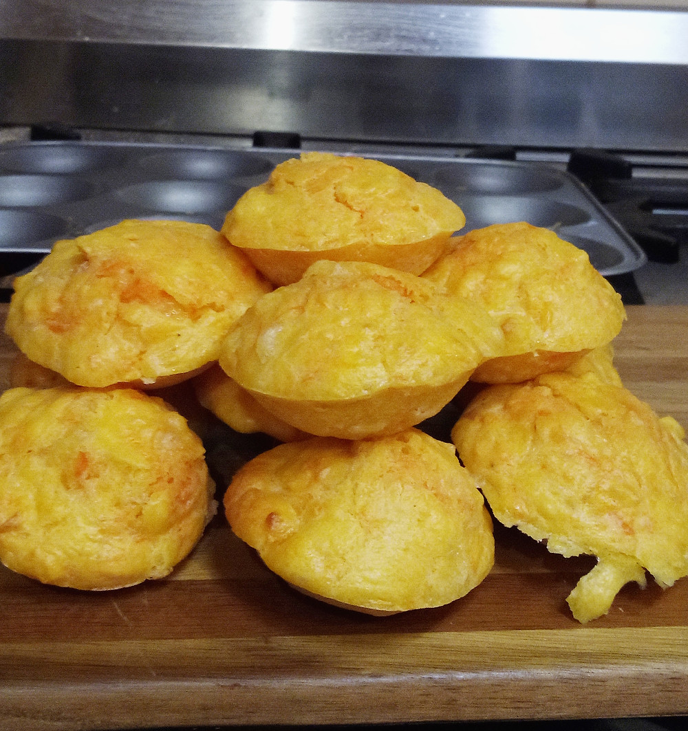 Mini Cheese Muffins cooling off