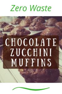 Zero Waste Chocolate Zucchini Muffins