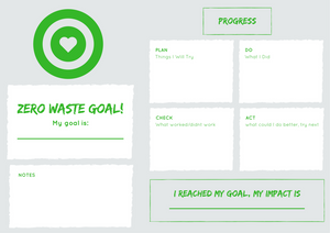 Zero Waste Goal Tracker Template