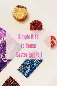 Easter Egg Foil Craft, Simple DIY, Kid Friendly