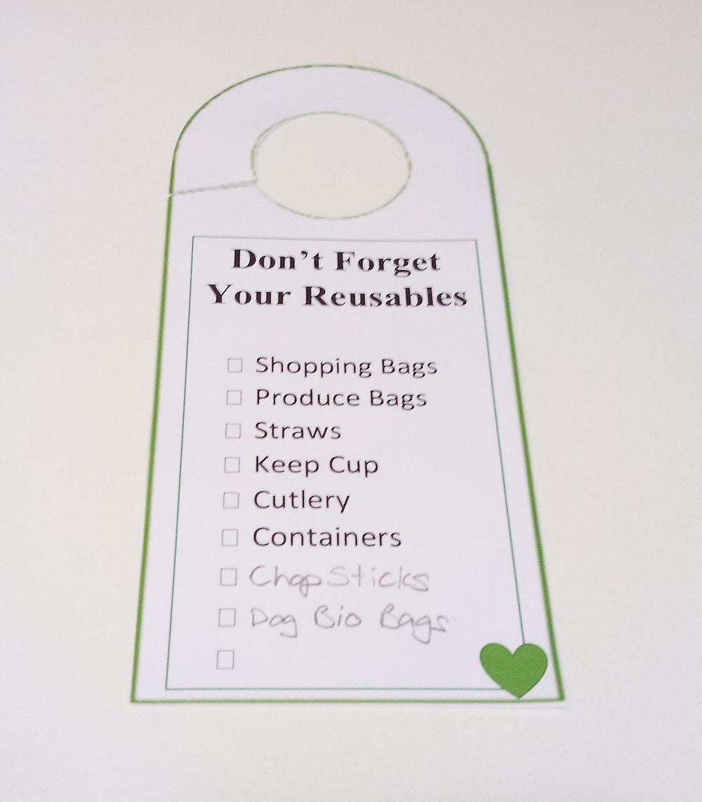 Printable door hanger reminder