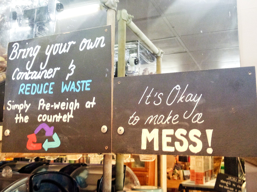 Bulk Store Sign - It's okay to make a mess!