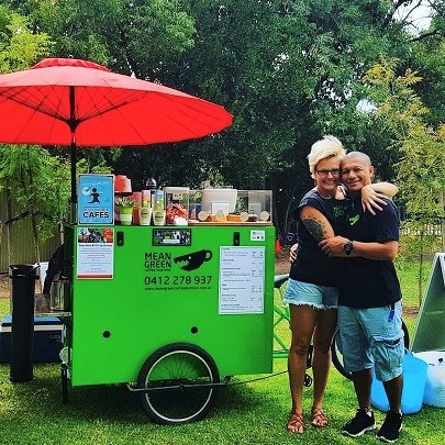 Nicole and Charlie - The Dynamic Duo Behind the Mean Green Coffee Machine