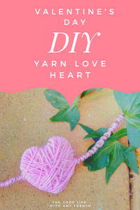 DIY Simple Yarn Love Heart for Valentine's Day