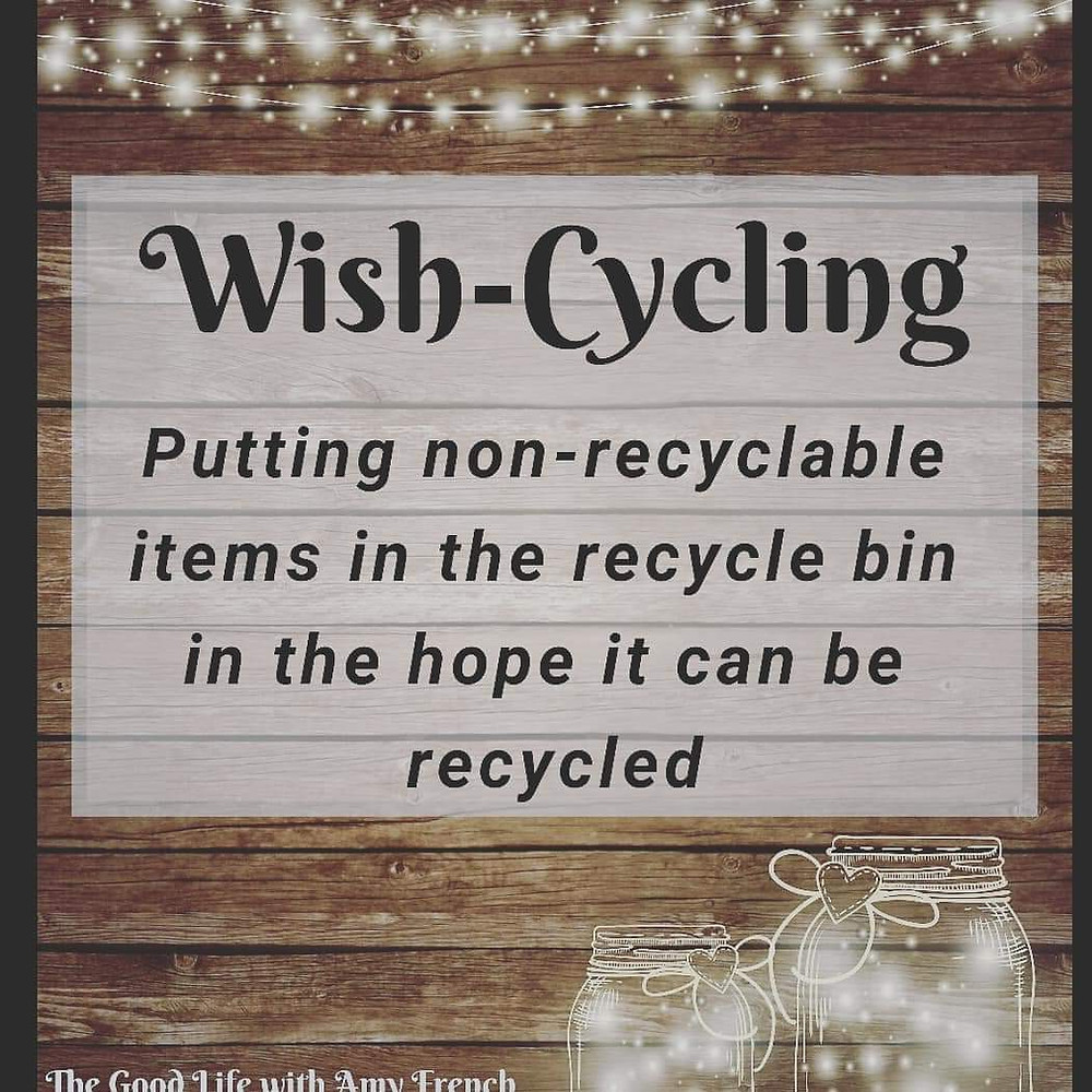 Wish-Cycling Definition - Putting non-recyclable items int the recycle bin in the hope it can be recycled