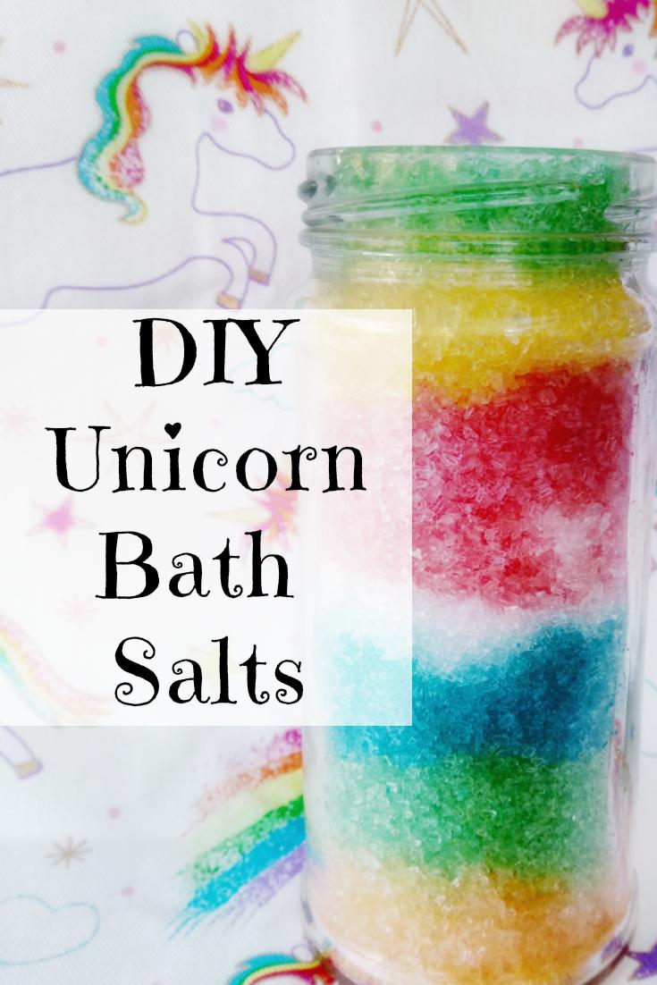 DIY Unicorn Bath Salts for Kids