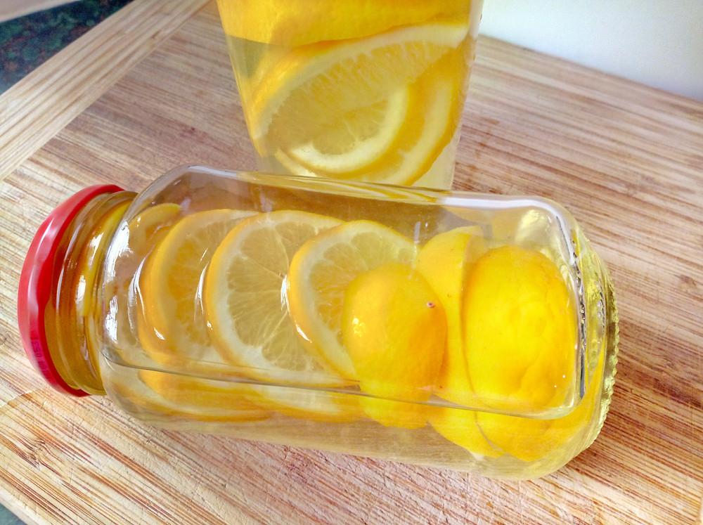 DIY Lemon Infused Cleaning Vinegar