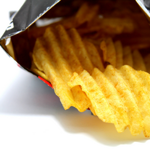 plastic packet of chips