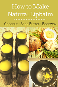 How to make natural lipbalm with coconut, shea butter and beeswax