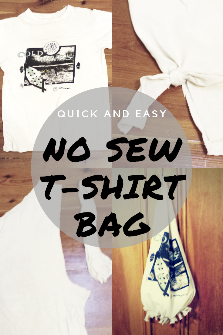 Make a No Sew T-Shirt Bag