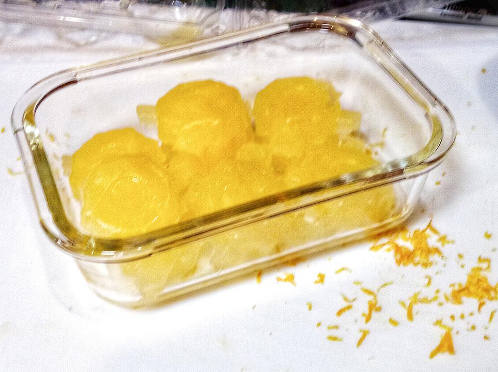 frozen lemon juice flowers