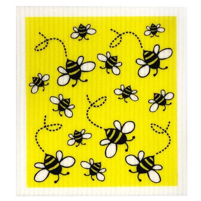 Bee Print Biodegradable Dish Cloth