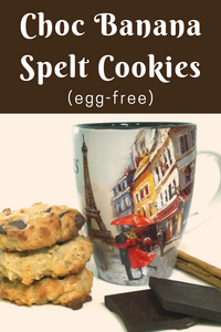 Chocolate, Banana, Spelt Cookies (Egg-Free Recipe)