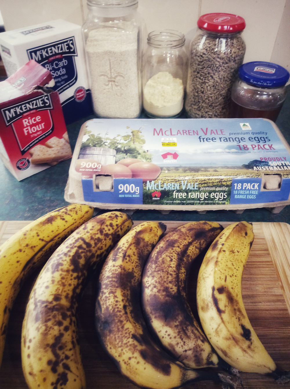 Zero waste banana Bread Ingredients