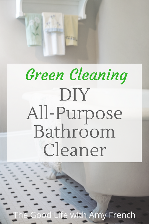 DIY All Purpose Bathroom Cleaning Spray | The Good Life with