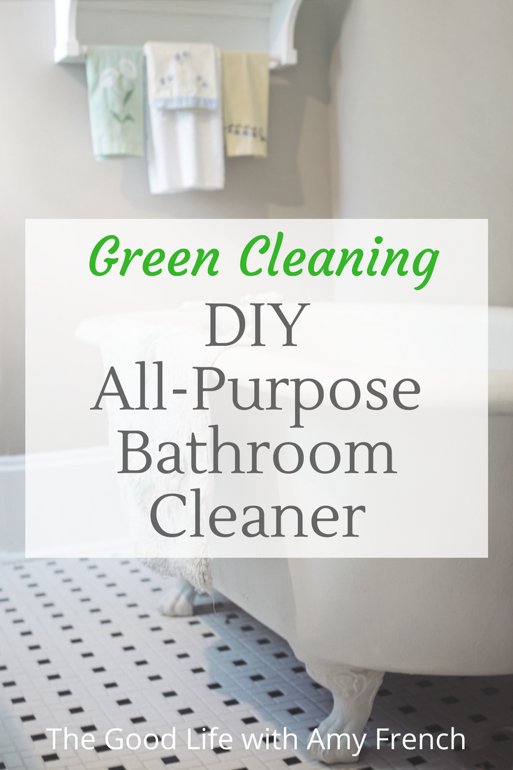 DIY Green Bathroom Cleaning Spray