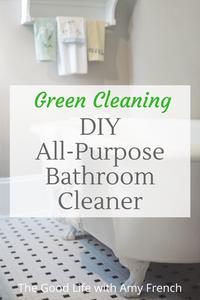 DIY Green Bathroom Cleaning Spray