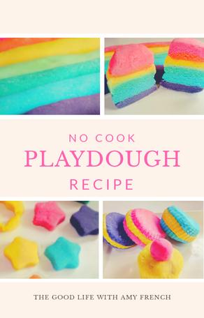 Easy No-Cook Playdough Recipe