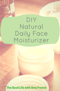 DIY Natural Daily Face Moisturiser