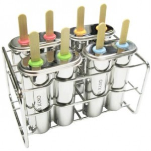 Double pop mould with reusable bamboo sticks