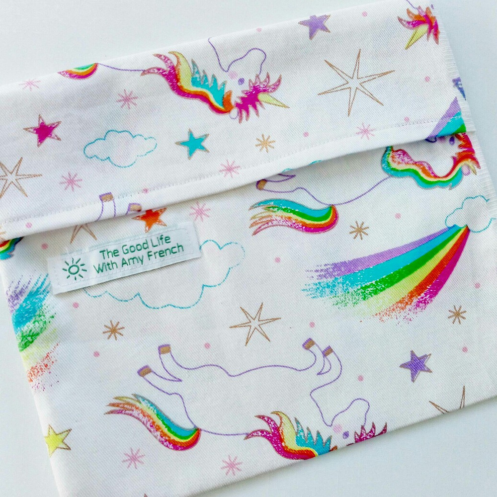 Unicorn Reusable Snack and Sandwich Pouch