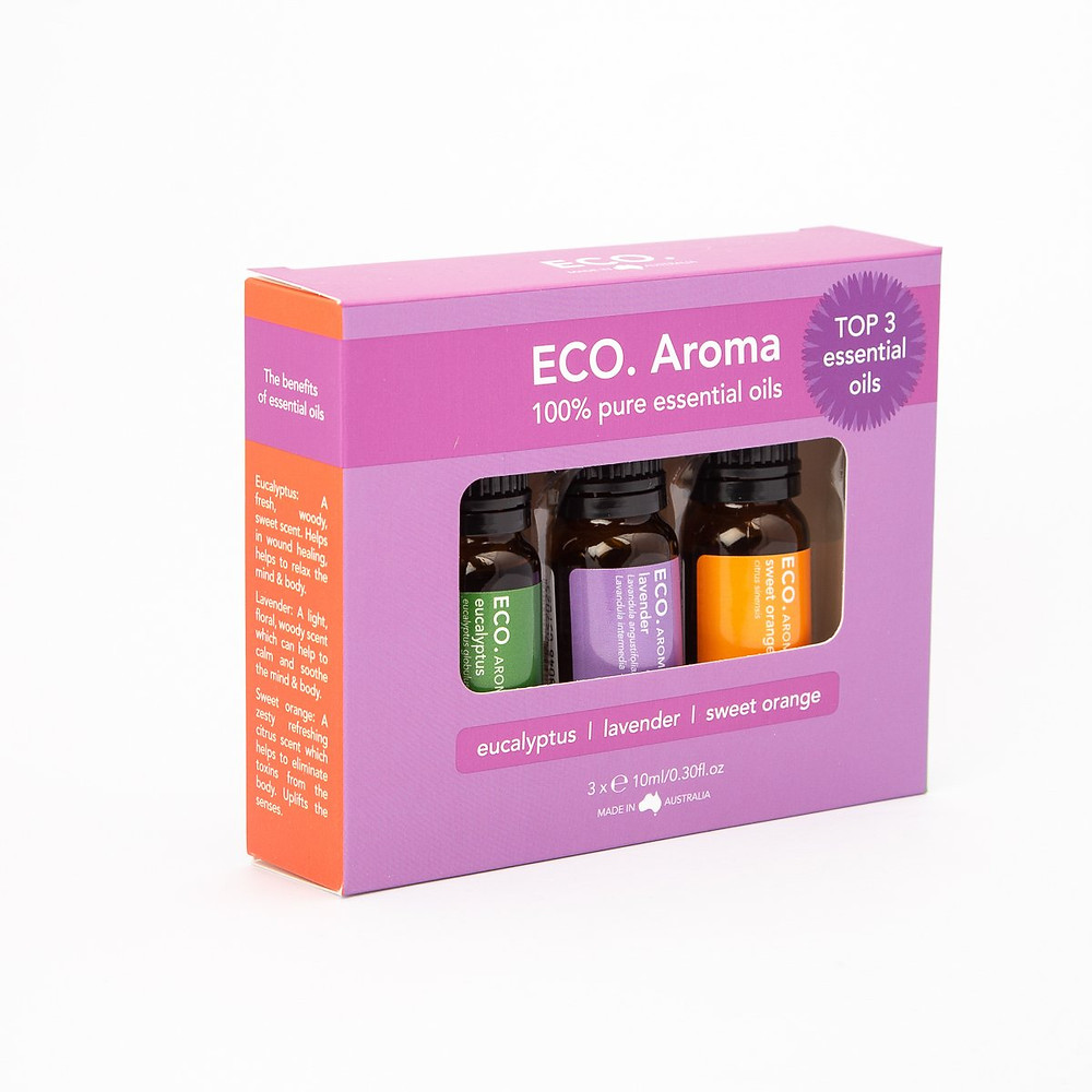 Try Lavender, Eucalyptus and Sweet Orange Essential Oils