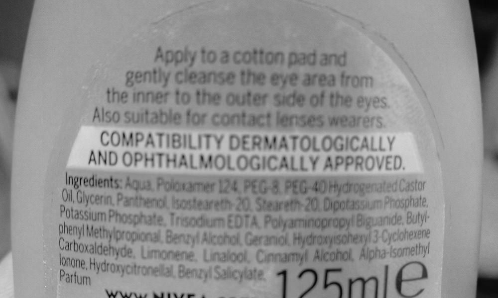 Supermarket Makeup Remover Ingredients
