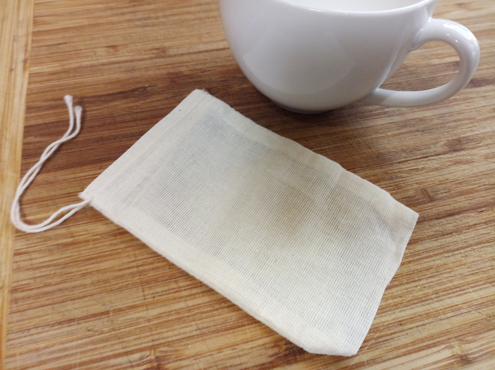 reusable natural cotton tea and coffee bags