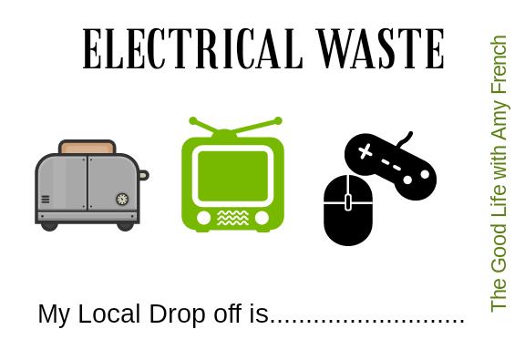 E-waste bin label