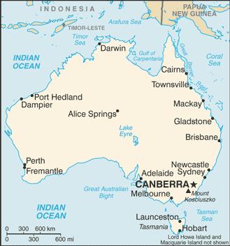 CIA Map of Australia