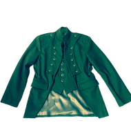 Green Short Front and Long Back Custom Jacket