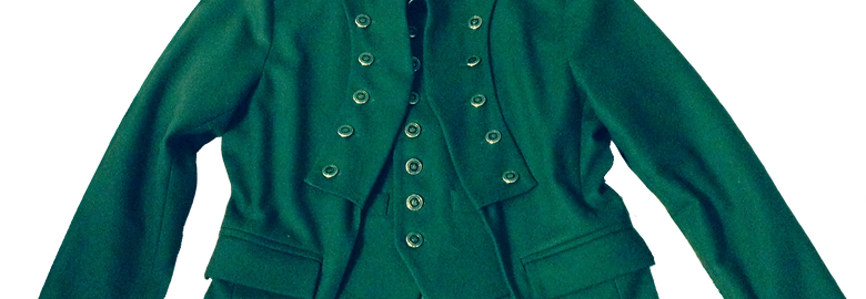 Green Short Front and Long Back Custom Jacket