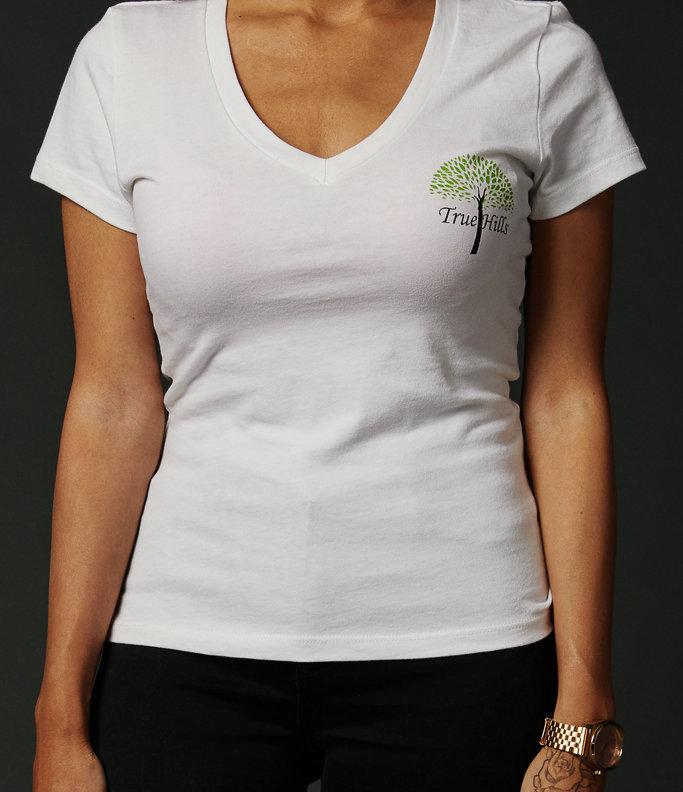 True Hills Basic Women's T-Shirt V-Neck