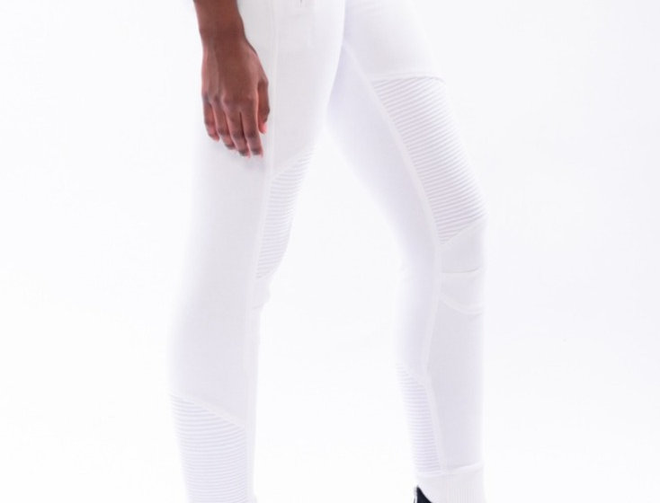 True Hills White Joggers Front View Tall Womens