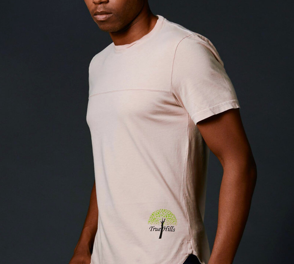 True Hills Elongated T-Shirt Crew Neck