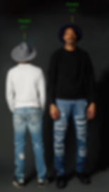 "True Hills models Will(6'1"") and Seven & Change(7'2"")"