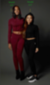 "True Hills models Charise (5'9"") & Shawneice (5'2""). In our True Hills Jogger Set."