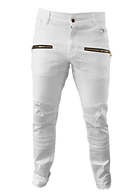 True Hills Men's Biker Denim w/ Zipper