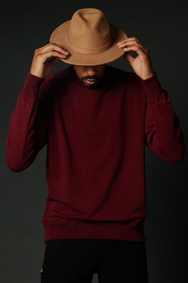 Red True Hills Over Sized Crew Neck Front